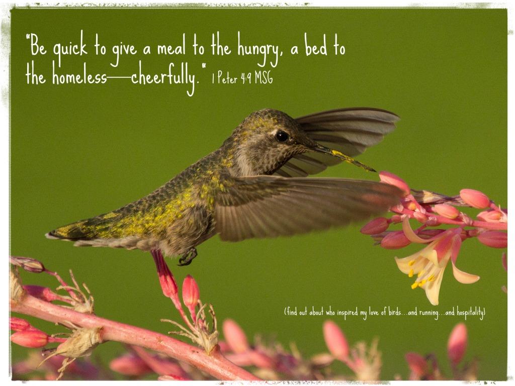 Birds and 5Ks and hospitality #InspireMeMonday http://wp.me/p2UZoK-yV via @blestbutstrest
