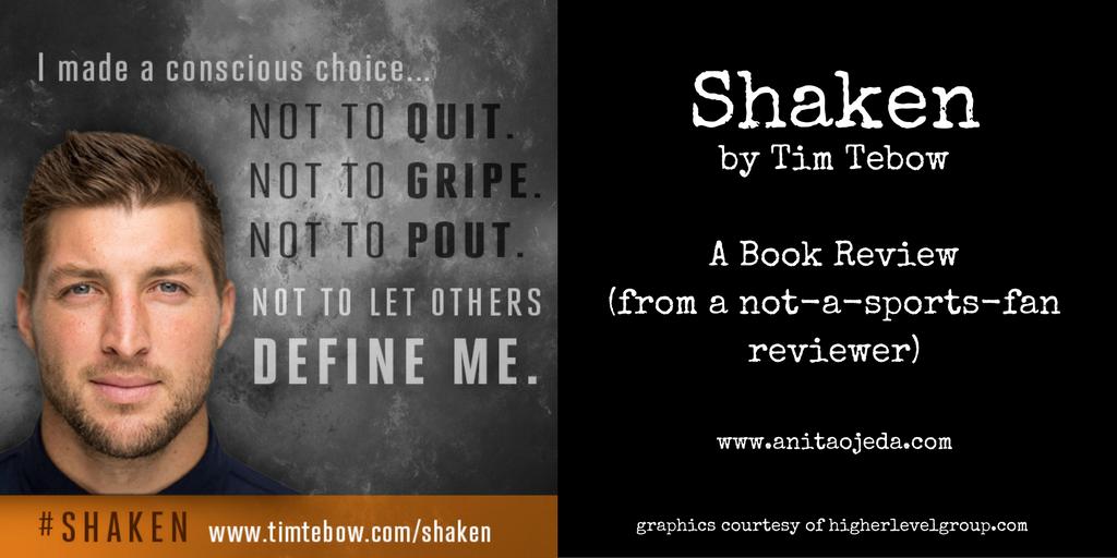 Tim Tebow's new book, #Shaken will leave you feeling settled.